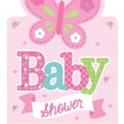 Babyshower inbjudan welcome baby girl 8p 39kr