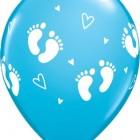 Ballonger 27,5cm 6st babyfötter blå 28kr