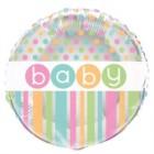 Folieballong 45cm babyshower polka dot 18kr