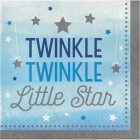 Servetter 16p twinkle little star blue 45kr