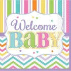 Servetter 36st welcome baby 63kr