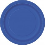 Papperstallrikar 17,1cm 8p royl blue 19kr