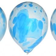 Blå marmorballonger 30cm 6p 30kr
