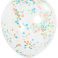 Multifärg. konfettiballonger 30,48cm 6p 30kr