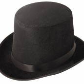 Black Velour Top Hat 39kr