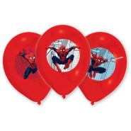 Ballonger 27,5cm 6p 4-färgstryck spiderman 45kr