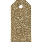 Tags  stl. 5x10 cm, 300 g, guld, glitter, 15st.30kr