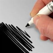 Dubbelsidig svart livsmedelspenna 49kr