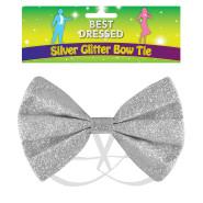 Fluga glitter silver 25kr