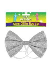 Fluga glitter silver/guld - Fluga glitter silver