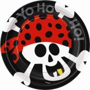 Pappersassiett pirat 8p