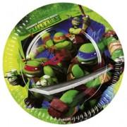 Pappersassietter Turtles 8p