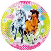 Papperstallrikar Hästar 8p