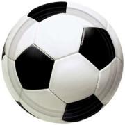 Papperstallrikar fotboll 8p