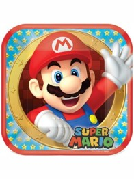 Papperstallrikar Super mario 8p - Papperstallrikar Super mario 8st