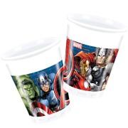 Muggar av plast Avengers 8p