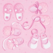 Servetter babyskor rosa 20st