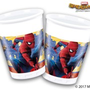 Muggar av plast Spiderman 8p