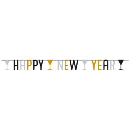 Banner happy new year 1,6m
