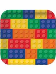 Papperstallrikar Blocks 8p - Papperstallrikar Blocks 8st