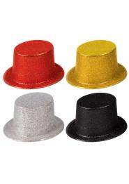 Glitterhatt röd/svart/silver/guld - Glitterhatt RÖD  onesize