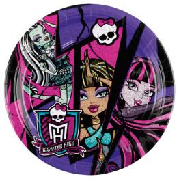 Papperstallrikar Monster High 8p - Papperstallrikar Monster High 8st