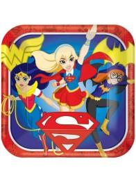 Papperstallrikar DC heroes 8p - Papperstallrikar DC heroes 8st