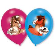 Ballonger Hästar 4-färg 8p
