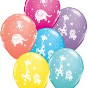 Ballonger Djungeldjur 6p