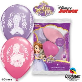 Ballonger Prinsessan Sofia 6p - Ballonger Prinsessan Sofia 6p