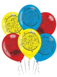Ballonger DC superhero girls 6p - Ballonger Dc superhero girls 6p