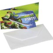 Kalasinbjudningar Turtles 6p