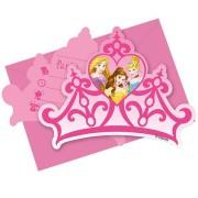 Kalasinbjudningar  Disney prinsessor kronor 6p