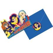 Kalasinbjudningar DC superhero girls 8p