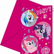 Kalasinbjudningar My little pony 6p