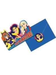 Kalasinbjudningar DC superhero girls 8p - Kalasinbjudningar DC superhero girls 8p