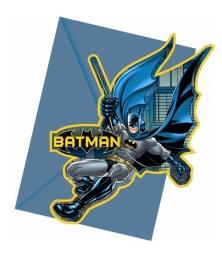Kalasinbjudningar Batman 6p - Kalasinbjudningar Batman 6p