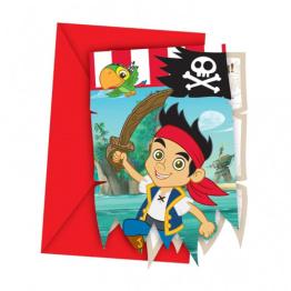 Kalasinbjudningar Jake & piraterna 6p - Kalasinbjudningar Jake & piraterna 6p