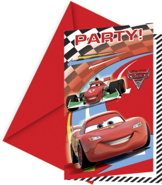 Kalasinbjudningar Cars 6p - Kalasinbjudningar Cars 6p