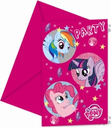 Kalasinbjudningar My little pony 6p - Kalasinbjudningar My little pony 6p