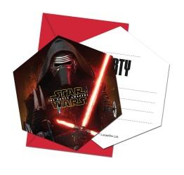 Kalasinbjudningar Star wars 6p - Kalasinbjudningar Star wars 6p