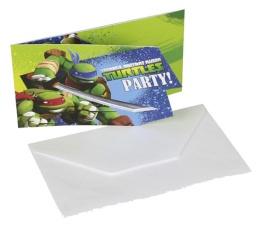 Kalasinbjudningar Turtles 6p - Kalasinbjudningar Turtles 6p