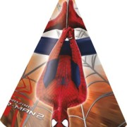 Partyhattar Spiderman 6p