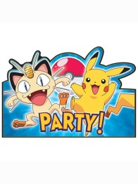 Kalasinbjudningar Pokemon 8p - Kalasinbjudningar Pokemon 8p