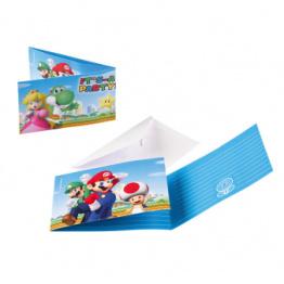 Kalasinbjudningar Super Mario 8p - Kalasinbjudningar Super Mario 8p
