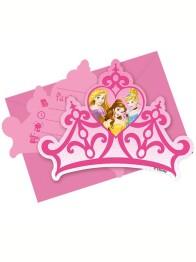 Kalasinbjudningar  Disney prinsessor kronor 6p - Kalasinbjudningar  Disney prinsessor kronor 6p