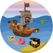 Tårtbild pirat 59kr