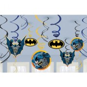 Swirl dekorationer Batman 12p