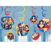 Swirl dekorationer DC superhero girls 12p