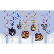 Swirl dekorationer Transformers 12p